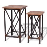 Set of 2 End Table Side Table