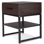 Bedroom Night Stand Table with Shelf & Drawer