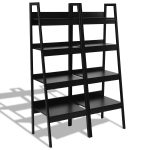 2 pcs 4-Tier Bundle Ladder Stand Bookcase Bookshelf Rack