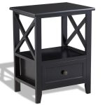 Room Decor End Side Nightstand w/ Storage Drawer & Shelf