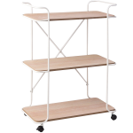 3-Tier Metal Utility Rolling Cart Storage Rack Shelves