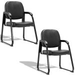 2 pcs Simple PU Meeting Conference Arm Chair
