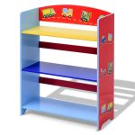 Kids 3-Tier Adorable Corner Cars Book Bookshelf
