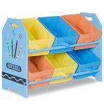 Kid's Multi-Color Toy Storage Organizer with 6 Bins