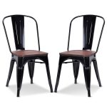 Set of 2 Tolix Style Dining Side Chair