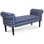 53.5″ Rolled Arm Padded Bed Bench