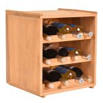 Natural Wood Wine Holder Bottle Rack for 12 Bottles