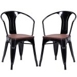 Set of 2 Tolix Style Armchair