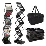 Folding Magazine Holder Rack with 6 Sections