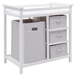 Infant Baby Hamper Diaper Changing Table w/ 3 Baskets