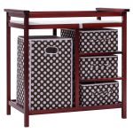 2 Colors Baby Diaper Storage Changing Table w/ 3 Baskets