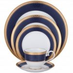 Noritake Odessa Cobalt Gold 5-Piece Place Setting-Sample