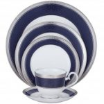Noritake Odessa Cobalt Platinum 5-Piece Place Setting-Sample