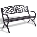 50″ Patio Black Decent Garden Bench