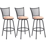 Set of 3 Swivel Counter Height Bar Stools