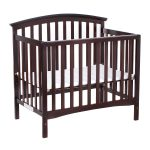 Coffee / White Convertible Pine Wood Baby Toddler Bed