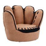 Five Fingers Baseball Glove Shaped Kids Sofa