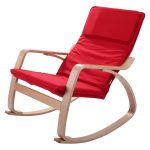 Wood Accent Living Room Rocking Chair