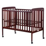 Cherry / Natural Convertible Pine Wood Baby Toddler Bed