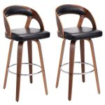 Set of 2 Bentwood Bar Stools Bistro Chairs