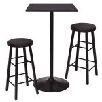 3 pcs Bistro Pub Square Bar table & Stools Set