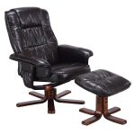 Leisure Recliner Swivel Chair with Ottoman